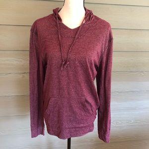 American Rag Top Blouse hoodie hooded pocket shirt